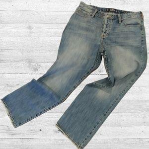 High Waist Cropped Mom Jeans